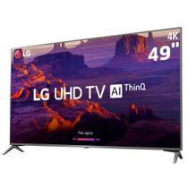 """Smart TV LED 49"""" LG 49UK6310PSE, Ultra HD 4K, IPS, ThinQ AI, WI-FI, HDR 10 Pro, HDMI, USB -"""
