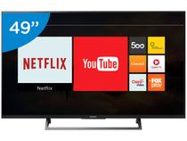 "Smart TV LED 49"" Sony 4K/Ultra HD KD-49X705E - Conversor Digital Wi-Fi 3 HDMI 2 USB"