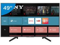 """Smart TV LED 49"""" Sony 4K/Ultra HD KD-49X705F - Android Conversor Digital Wi-Fi 3 HDMI 3 USB DLNA"""