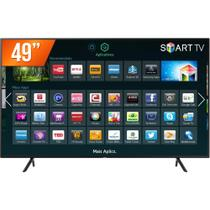 Smart TV LED 49 Ultra HD 4K Samsung NU7100 HDMI USB Wi-Fi Integrado Conversor Digital