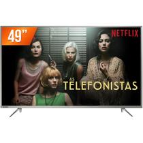 Smart TV LED 49 Ultra HD 4K Toshiba 49U7800 3 HDMI 2 USB Wi-Fi Integrado Conversor Digital
