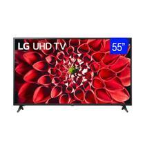Smart TV LED 4K 55 Pol UHD LG 55UN7100 BT ThinQ AI 4 HDMI 2 USB WiFi Bluetooth -