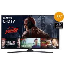 """Smart TV LED 4K 55"""" Samsung UN55KU6000, Ultra HD, 3 HDMI, 2 USB, Wi-Fi Integrado -"""