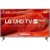 """Smart TV LED 4K LG 43UM7500 43"""", UHD, WebOS 4.5, LG ThinQ AI, HDR Ativo, 4 HDMI, 2 USB - Prata -"""
