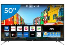 "Smart TV LED 50"" AOC 4K/Ultra HD LE50U7970S - Conversor Digital Wi-Fi 4 HDMI 2 USB"