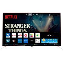 """Smart TV LED 50"""" AOC LE50U7970 4K Ultra HD com Wi-Fi 3 USB 4 HDMI Controle com Botão Netflix e 60Hz -"""