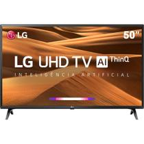 Smart TV Led 50'' LG 50UM Ultra HD 4K Thinq AI Conversor Digital Integrado 4 HDMI 2 USB Wi-Fi