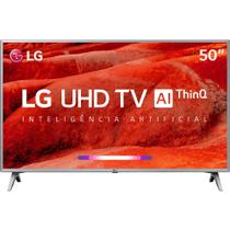 Smart TV LED 50'' LG 50UM7510 Ultra HD 4K Thinq AI Conversor Digital Integrado Wi-Fi 4 HDMI 2 USB