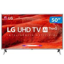 Smart TV LED 50 LG Inteligência Artificial 4 HDMI 2 USB 50UM7510PSB Wi-Fi HDR -