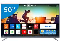 "Smart TV LED 50"" Philips 4K/Ultra HD 50PUG6513/78 - Conversor Digital Wi-Fi 3 HDMI 2 USB"
