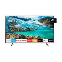 Smart TV LED 50 Polegadas Samsung 50RU7100 Ultra HD 4K com Conversor Digital 3 HDMI 2 USB Wi-Fi Controle Remoto Único e Bluetooth