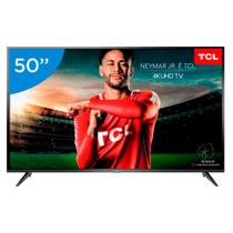 Smart TV LED 50 Polegadas TCL P65US Ultra HD 4K HDR com Wifi integrado