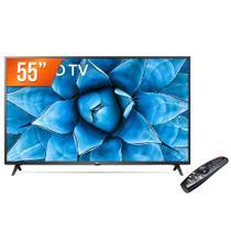 "Smart TV LED 55"" 4K UHD LG 55UN731C 3 HDMI 2 USB Wi-Fi Assitente Virtual Bluetooth -"