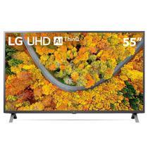 Smart TV LED 55'' 4K UHD LG 55UP7550 2021 WiFi Bluetooth HDR Inteligência Artificial ThinQ Smart Magic Google Alexa -
