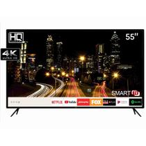 "Smart TV LED 55"" HQ HQSTV55NY Ultra HD 4K Netflix Youtube 3 HDMI 2 USB Wi-Fi -"