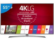 "Smart TV LED 55"" LG 4K/Ultra HD 55UJ6585 WebOS - Conversor Digital Wi-fi 4 HDMI 2 USB"