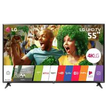 "Smart TV LED 55"" LG 55UJ6300, Ultra HD 4K, Wi-Fi, Painel IPS, HDR, HDMI, USB -"