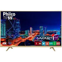 Smart TV LED 55 Philco PTV55U21DSWNC UHD 4K com Conversor Digital 3 HDMI 2 USB Wi-Fi Netflix -