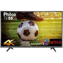 "Smart TV LED 55"" Philco PTV55U21DSWNT, 4K Ultra HD, Wi-Fi, 2 USB, 3 HDMI -"