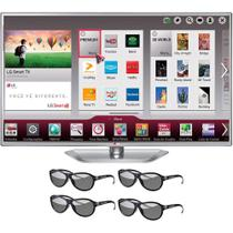Smart TV LED 55 Polegadas LG Slim 3D 4 Óculos - 55LA6214 -