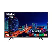 Smart TV LED 55 Polegadas Philco PTV55U21DSWNT 4K Wi-Fi 3 HDMI 2 USB -