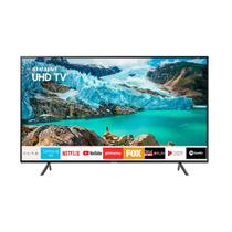 Smart TV LED 55 Polegadas Samsung 55RU7100 Ultra HD 4K com Conversor Digital 3 HDMI 2 USB Wi-Fi Controle Remoto Único e Bluetooth