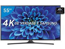 """Smart TV LED 55"""" Samsung 4K/Ultra 55KU6000 - Conversor Digital Wi-Fi 3 HDMI 2 USB"""