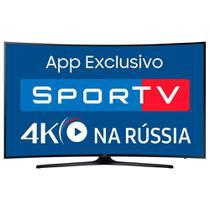 """Smart TV LED 55"""" Samsung Curva UN55MU6300 4K Ultra HD HDR, Wi-Fi, 2 USB, 3 HDMI -"""