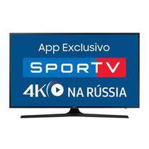 """Smart TV LED 55"""" Samsung UN55MU6100GXZD Ultra HD 3 HDMI 2 USB Preto com Conversor Digital Integrado -"""