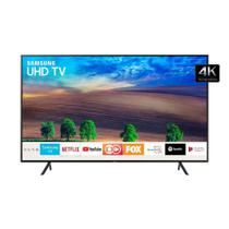 Smart TV LED 55 Samsung UN55NU7100GXZD 4K Ultra HD HDR com Wi-Fi 2 USB 3 HDMI e 120Hz