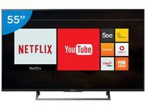 """Smart TV LED 55"""" Sony 4K/Ultra HD KD-55X705E - Conversor Digital Wi-Fi 3 HDMI 3 USB"""