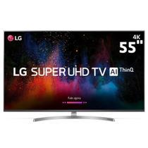 """Smart TV LED 55"""" Super UHD 4K LG 55SK8500PSA IPS, ThinQ AI, Wi-Fi, Processador Inteligente a7,  HDMI e USB -"""