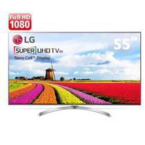 "Smart TV LED 55"" Super Ultra HD 4K LG 55SJ8000 com Sistema WebOS 3.5, Wi-Fi, Nano Cell, HDR, Local Dimming, Gaming, Cont -"