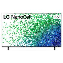 "Smart TV LED 55"" UHD 4K NanoCell LG 55NANO80 2021,4x HDMI 2.0 Inteligência Artificial AI ThinQ Smart Magic Google Alexa -"