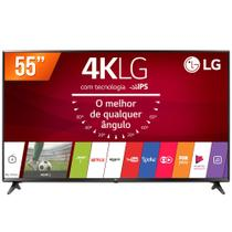 Smart TV LED 55 Ultra HD 4K LG 55UJ6300 HDMI USB Wi-Fi Conversor Digital Integrado