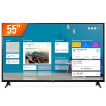 "Smart TV LED 55"" Ultra HD 4K LG 55UN7100 ThinQ Al 3 HDMI 2 USB -"