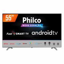 """Smart TV LED 55"""" Ultra HD 4K Philco PTV55Q20AGBL 3 HDMI 2 USB -"""