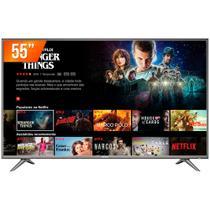 """Smart TV LED 55"""" Ultra HD 4K Semp 55SK6200 3 HDMI 2 USB Wi-Fi -"""