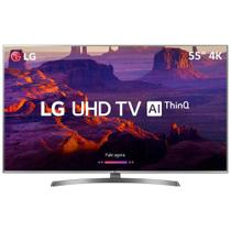 Smart TV LED 55UK6540 55 Ultra HD 4K HDMI/USB Prata - LG