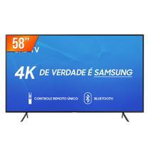 """Smart TV LED 58"""" Ultra HD 4K Samsung RU7100 3 HDMI 2 USB Wi-Fi -"""