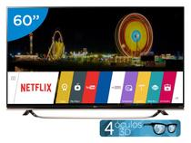 "Smart TV LED 60"" LG 4k/Ultra HD 3D UF8500 - WebOS Conversor Digital Óculos Wi-Fi 3 HDMI 3 USB"