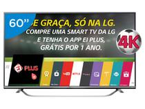 "Smart TV LED 60"" LG 4K Ultra HD 60UF7700 - Conversor Digital 3 HDMI 3 USB Wi-Fi"