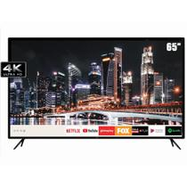 "Smart TV LED 65"" HQ HQSTV65NY Ultra HD 4K Netflix Youtube 3 HDMI 2 USB Wi-Fi -"