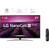 "Smart TV LED 65"" LG 65SM8600, Ultra HD 4K, ThinQ AI, WebOS 4.5, HDR, 3 USB, 4 HDMI -"