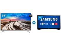 "Smart TV LED 65"" Samsung 4K/Ultra HD 65MU7000 - Conversor Digital Wi-Fi + Smart TV LED 32"" Samsung"