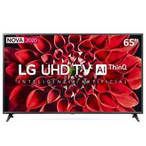 "Smart TV LED 65"" UHD 4K LG 65UN7100PSA Wi-Fi, Bluetooth, HDR, Inteligência Artificial ThinQ AI, Google Assistente, Alexa - 2020 -"