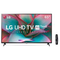 "Smart TV LED 65"" UHD 4K LG 65UN7310PSC com Wi-Fi, Bluetooth, HDR, Inteligência Artificial ThinQ AI -"