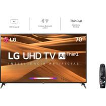 "Smart TV LED 70"" LG 70UM7370, UHD 4K, ThinQ AI, WebOS 4.5, Quad Core, HDR Ativo, 2 USB, 3 HDMI -"
