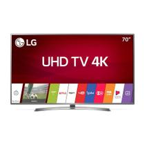 Smart TV LED 70 polegadas LG 70UJ6585 Ultra HD 4k com Conversor Digital 4 HDMI 2 USB Wi-Fi