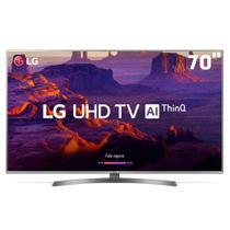"Smart TV LED 70"" Ultra HD 4K LG 70UK6540PSA Inteligência Artificial ThinQ AI, WI-FI, Quad Core, HDR 10 Pro, HDMI/USB -"